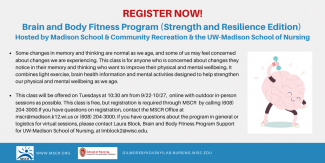 Registration ad for Brain and Body fitness program