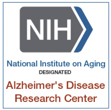 NIA-designated badge for Alzheimer's Disease Research Center